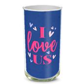 I Love Us Vase