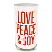 Love Peace Joy Vase